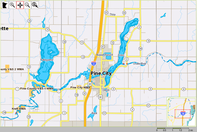 Snake River Outfitters Of Minnesota Fabulous Canoe Adventures - Pokegama lake map